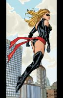 Ms. Marvel in color by Supajoe