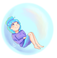 Floating in a bubble by xX-ArtBloqued-Xx