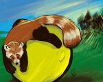 A Panda's Summer Ball by Sombraluz-Images