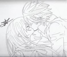 Yuuki and Zero from Vampire Knight by ArtsMermaid