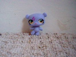 LPS Music Note Purple Bear by ButchxButtercup1996