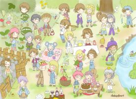 harvest moon party by rikutsuyu