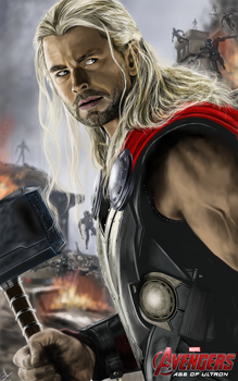 Avengers Age of Ultron Thor by billycsk