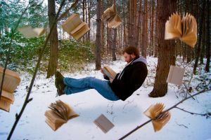 Reading man by Lucie-Lilly
