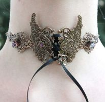 Elven wings neck corset by Pinkabsinthe