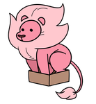 Lion in a box by HomestuckFanPoop