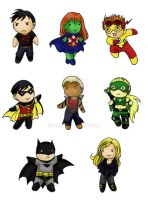 Young Justice Chibi Set by Tamao
