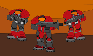 Dominion Terran Marines by ZergRex