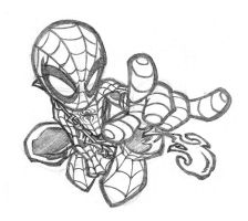 Little -Chibi- Spidey by thekidKaos