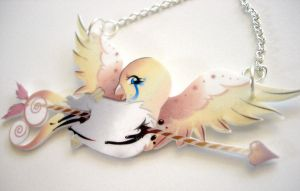 Tattoo birdie necklace. by kerinewton