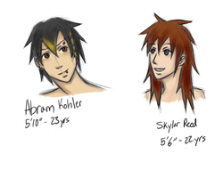 Characters Redone :: Sky and Abram by Marlin-Rae