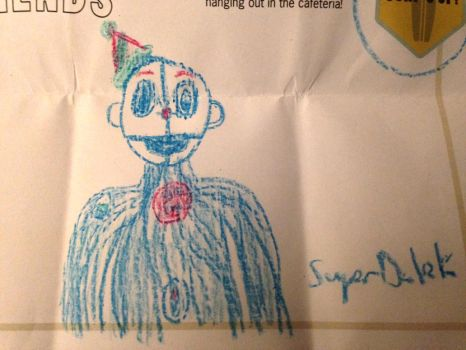 So I Drew Ennard on a Kids Menu at a Restaurant by SuperMegaDalek