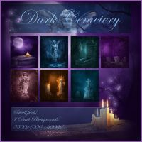 Dark Cemetery Backgrounds by moonchild-ljilja