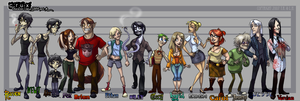 Crux: Character Lineup A by Bilious