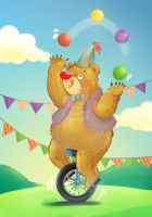 Happy Circus Bear by mariable