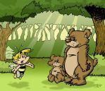 BUMBLE BOY AND THE BEARS by yawningtiger