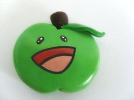 Happy Apple bead by Mimi-Mushroom