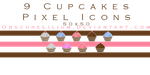 Cupcake Pixel Icons by ObscureLilium