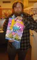 Pendleton Ward with my Adventure Time Fan Art by ExoesqueletoDV