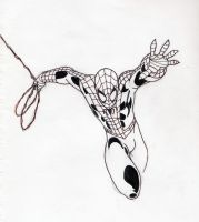 Spider-Man in Ink by DomiNYcanKnyght