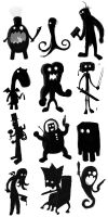 12 Monsters by cheesehound