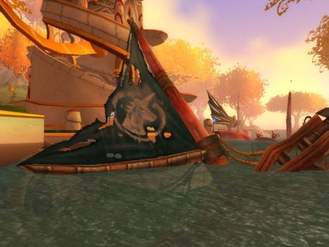 remains of a quel'dorei destroyer by featherunner