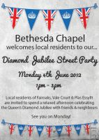 Betehsda Chapel Diamond Jubilee Party Poster Flyer by mrwebdesign