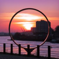 Squared Circle City Sunset by Pierre-Lagarde