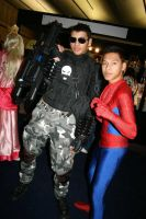 The Punisher and spiderman by slayer500