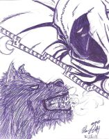 Moon Knight vs Jack Russell 1 by OrionSTARB0Y