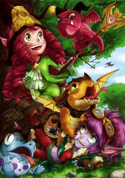 Lulu And Tristana Dragontrainer - League of Legend by rose-92