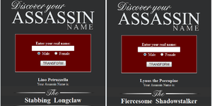 My two possible Assassin nicknames XD by Lynus-the-Porcupine