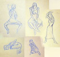 7 Minute Figure Drawings by Diana-Huang