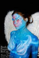 Art angel cheeky body paint by Bodypaintingbycatdot