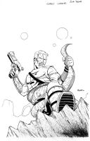 Carolina Cobalt Issue 1 Cover Inks by NJValente