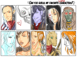 Fav Game Characters Meme xD by drathe
