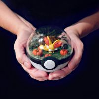 Poke Ball Terrarium - Fennekin - Medium by TheVintageRealm