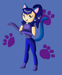 Kikyo the Cat Girl by KendraTheShinyEevee