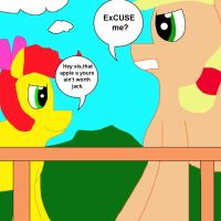 Apple Bloom Insults Applejack by MasterYubel