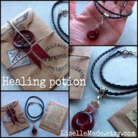 Healing Potion Vial Necklace by LiselleAngelique