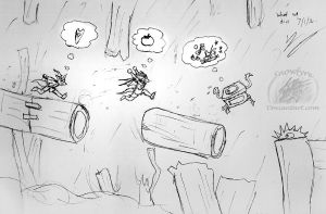 CA: Chasing a treasure chest +Rayman+ by Snowfyre