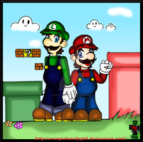 Mario and Luigi ::practice:: by Martyna-Chan
