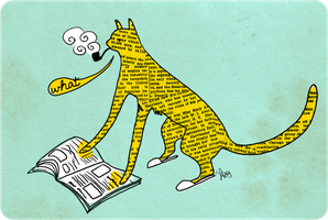 I see a cat reading newspaper by rowleen