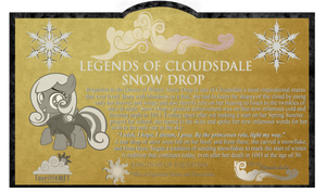 Legends of Cloudsdale Plaque (Snow Drop) by rjrgmc28