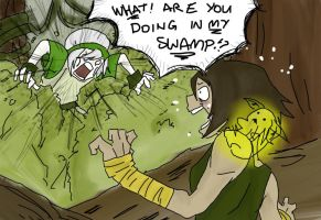 The Legend of Korra: Toph's Swamp by Fuji-Domo