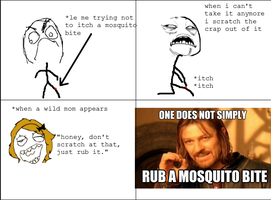 Mosquito bite rage by anj100