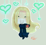 Holiday Present Vexen chibi by Little-Miss-RiikoRed