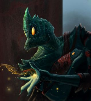 Night creature with offspring by victorpripp