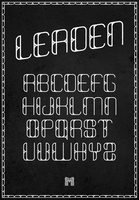 LEADEN : Type Specimen by michaelspitz