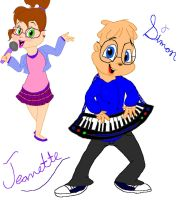 simon and jeanette by 1cartoonlovinfreak12